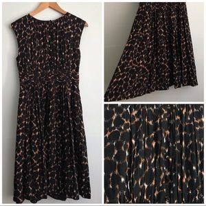 Boden Animal Print Selina Dress US 6L EUC